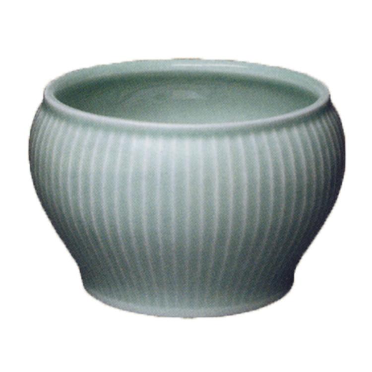 茶道具 建水 青磁 縞 横石嘉助 (茶道具 通販 )