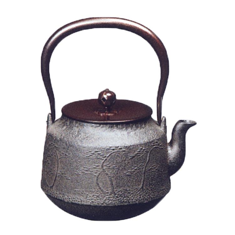 茶道具 鉄瓶 浜松地紋真形 菊地政光 (茶道具 通販 )