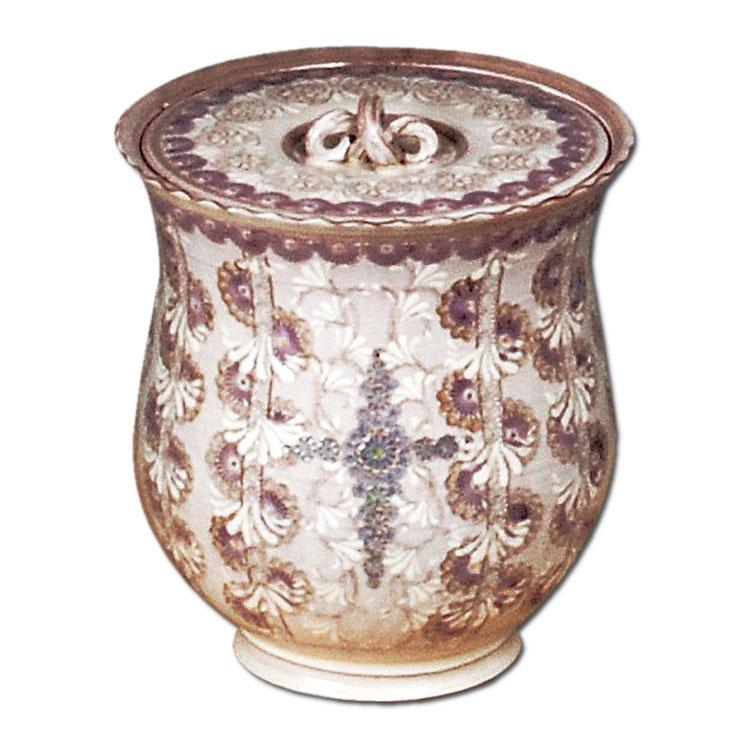 茶道具 水指 紫彩華紋 森里陶楽作
