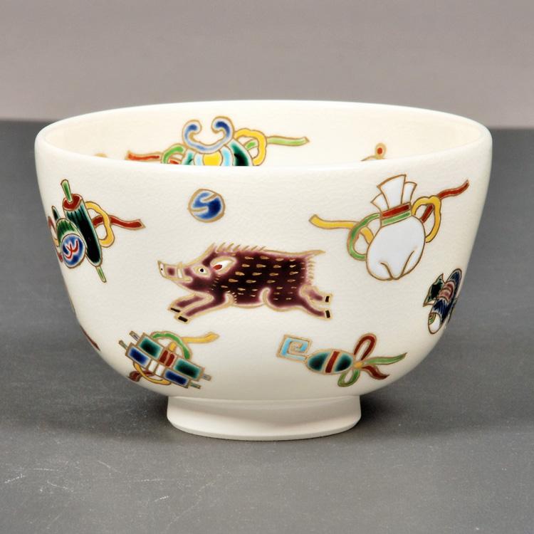 茶道具 抹茶茶碗(まっちゃちゃわん) 茶碗 亥に宝尽 田中 万祥