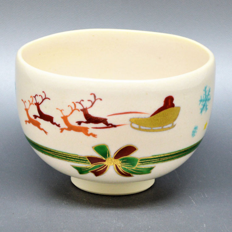 茶道具 抹茶茶碗(まっちゃちゃわん) 茶碗 サンタ回絵 山岡 善高
