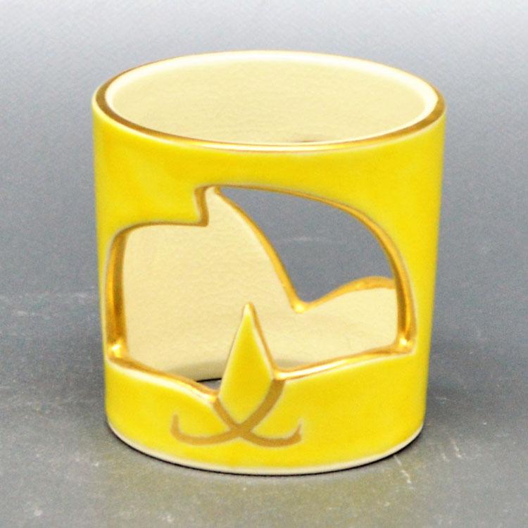 茶道具 蓋置(ふたおき) 蓋置 銀杏透 手塚 桐鳳