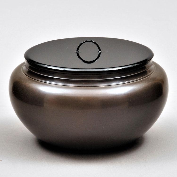 茶道具 水指(水差・みずさし) 唐銅平水指 般若 勘渓