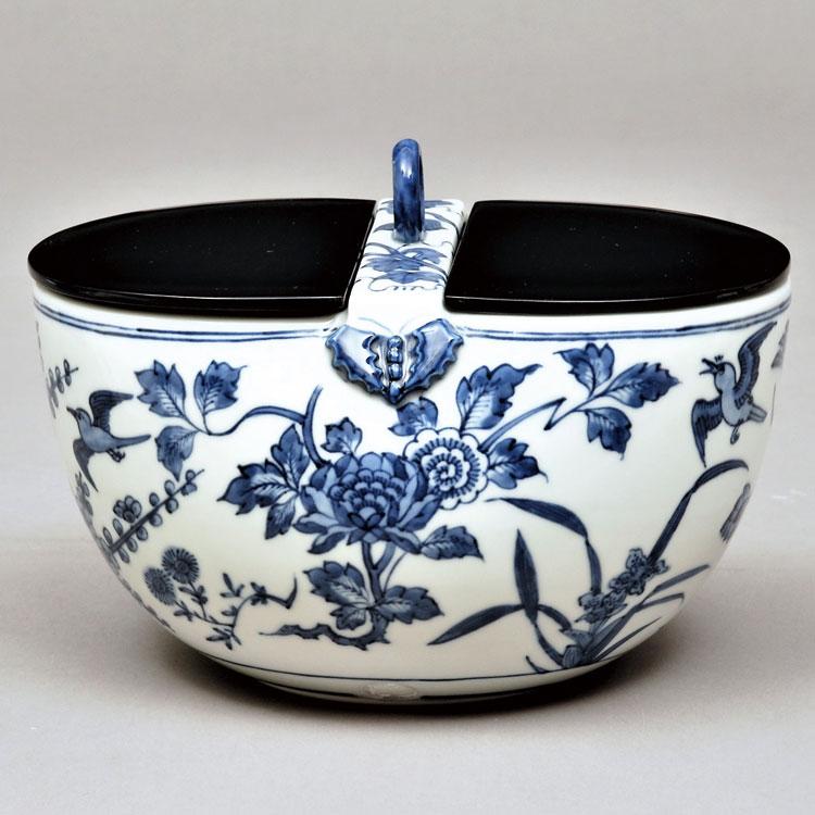茶道具 水指(水差・みずさし) 水指 祥瑞 釣瓶 林 淡幽