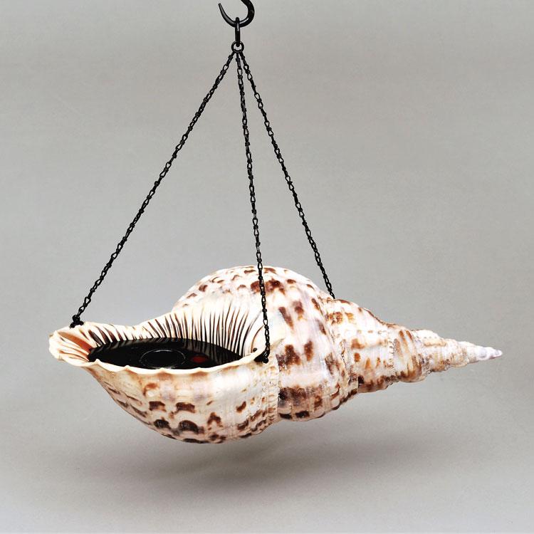茶道具 花入(はないれ) 法螺貝吊花入 一政堂