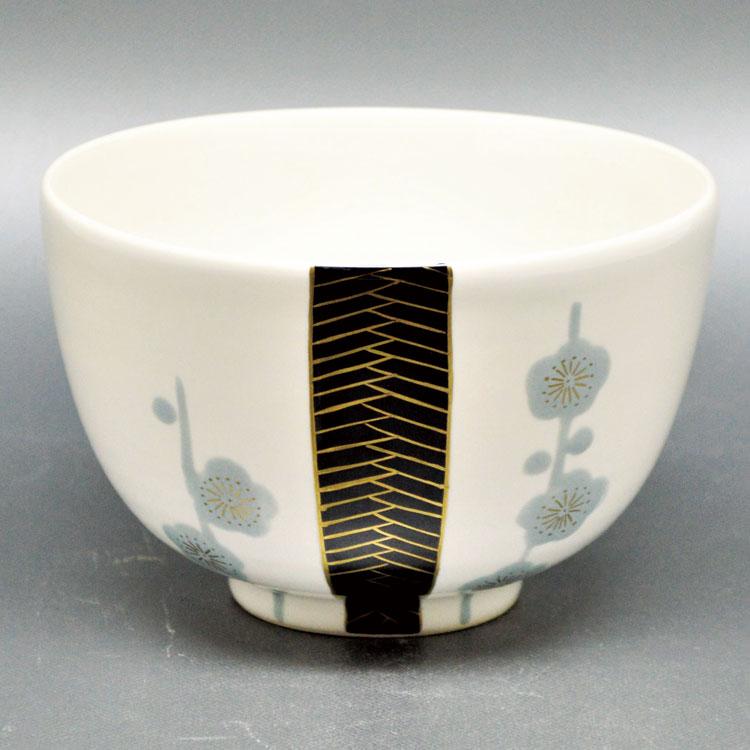 茶道具 抹茶茶碗(まっちゃちゃわん) 茶碗 白釉 槍梅 山岡 善高