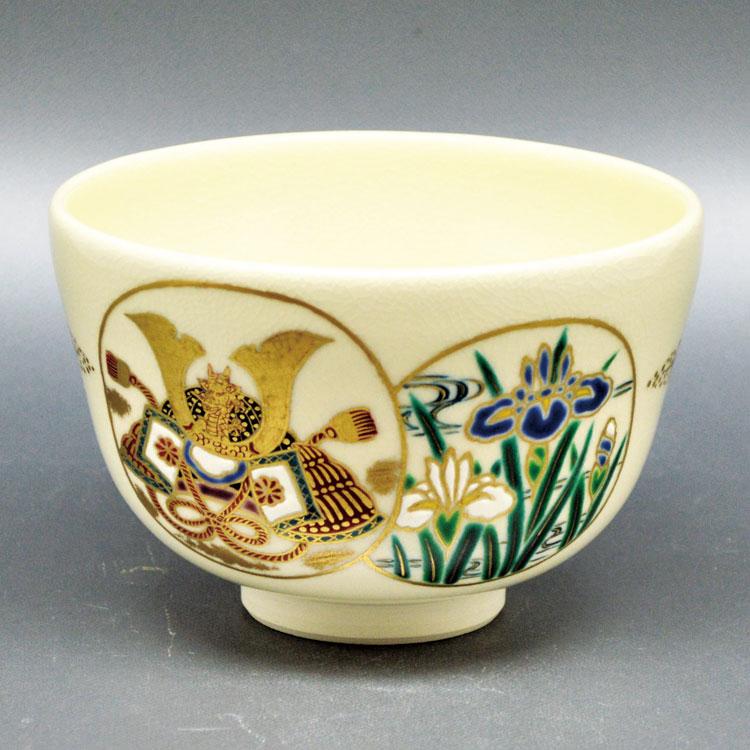 茶道具 抹茶茶碗(まっちゃちゃわん) 茶碗 仁清 丸紋兜 田中 万祥