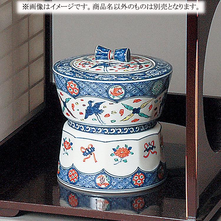茶道具 水指(水差・みずさし) 水指 色絵 臼 高野 昭阿弥