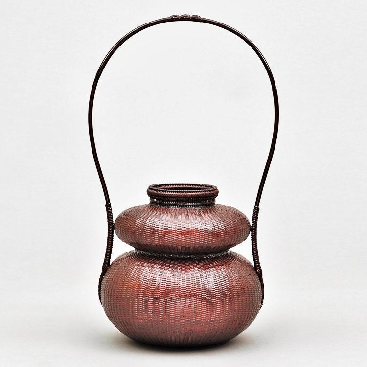茶道具 花籠(はなかご) 瓢手付籠 船橋 重朗