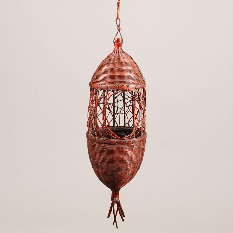 茶道具 花籠(はなかご) みの虫籠 船橋 重朗