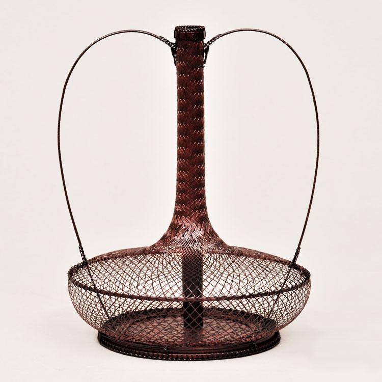 茶道具 花籠(はなかご) 弦耳付籠 船橋 重朗