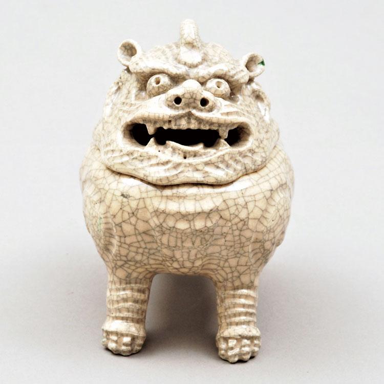 茶道具 香炉(こうろ) 香炉 向獅子 惺斎書付 楽 弘入