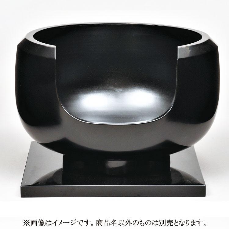 茶道具 風炉(ふろ) 面取風炉 黒真塗 尺0 寄神 崇白