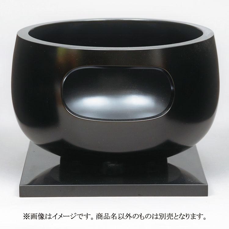茶道具 風炉(ふろ) 眉風炉 黒真塗 尺1 寄神 崇白