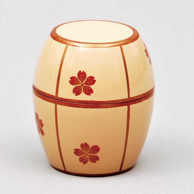 茶道具 茶器(ちゃき) 白漆 桜 茶器 土居 義峰