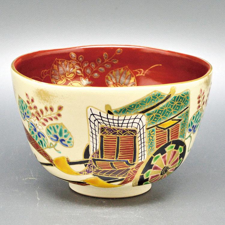 茶道具 抹茶茶碗(まっちゃちゃわん) 茶碗 御所車 壱休窯