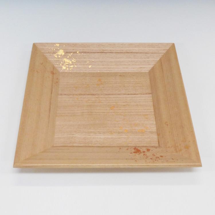 茶道具 四方干菓子器 桐上柾目 本金箔散し クリアー加工●写真は使用例です。商品名以外のものは別売です。 雄斎 菓子器(茶道具 通販 )