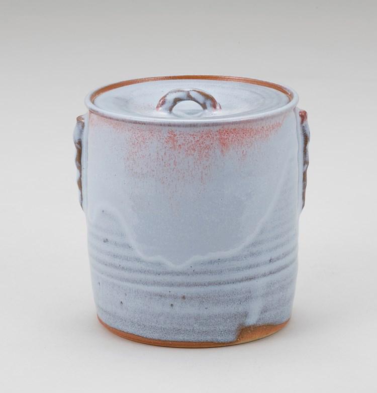 茶道具 釣窯月白釉写水指 清和窯
