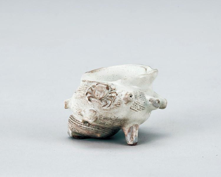 茶道具 萩栄螺蓋置