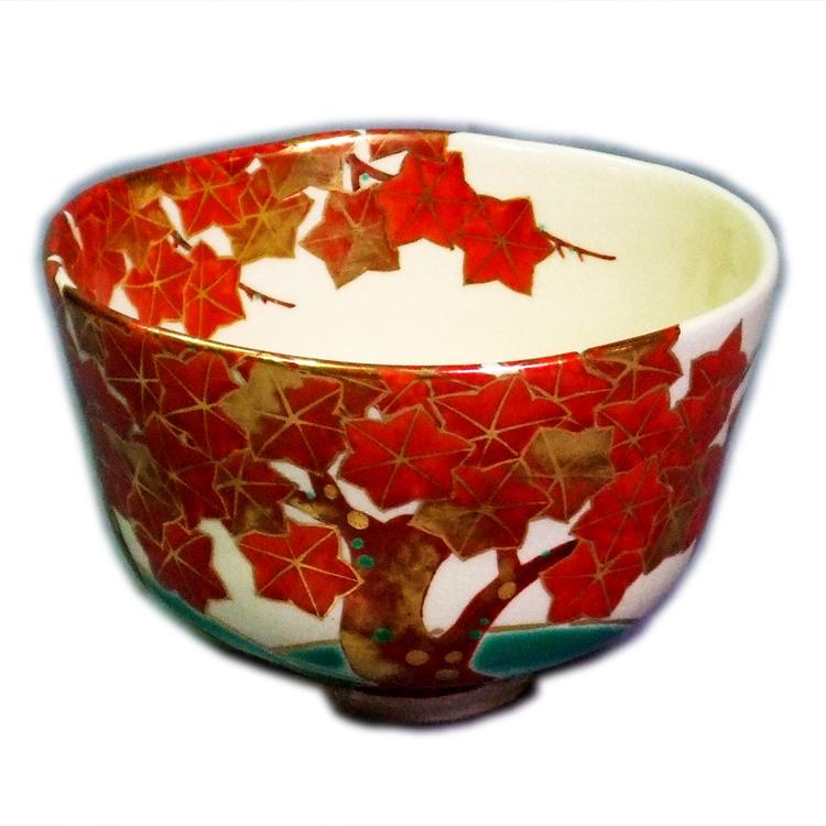 茶道具 抹茶茶碗(まっちゃちゃわん) 仁清写紅葉茶碗 永楽即全
