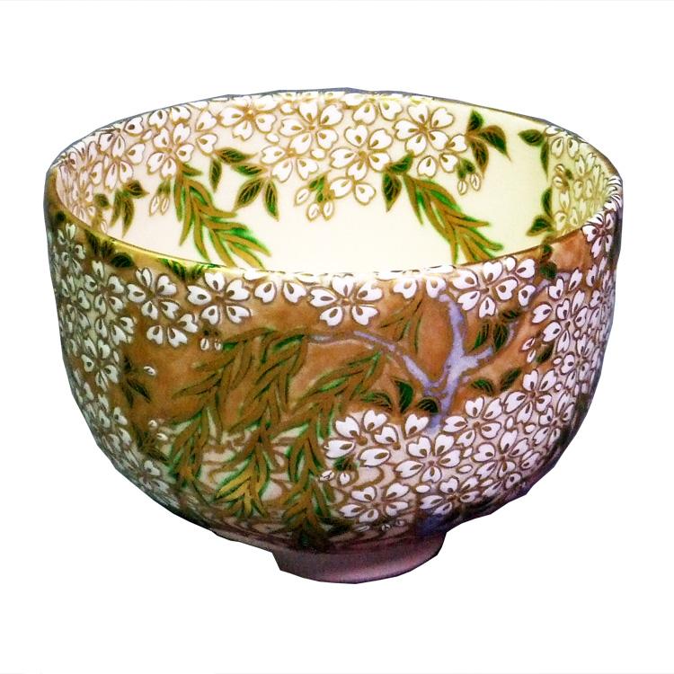 茶道具 抹茶茶碗(まっちゃちゃわん) 色絵桜花爛漫茶碗 杉田祥平