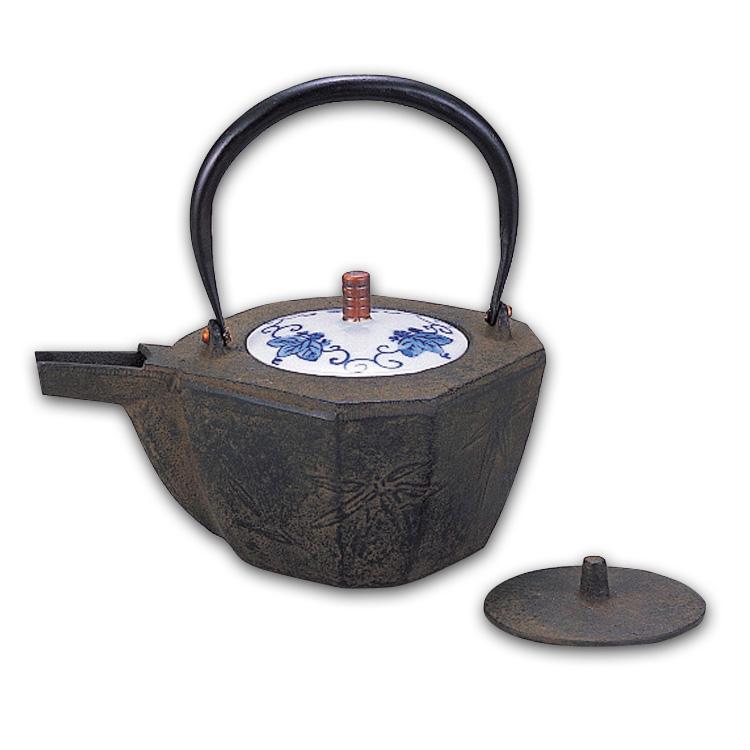 茶道具 八角燗鍋 竹文 替蓋付 八角 (茶道具 通販 )
