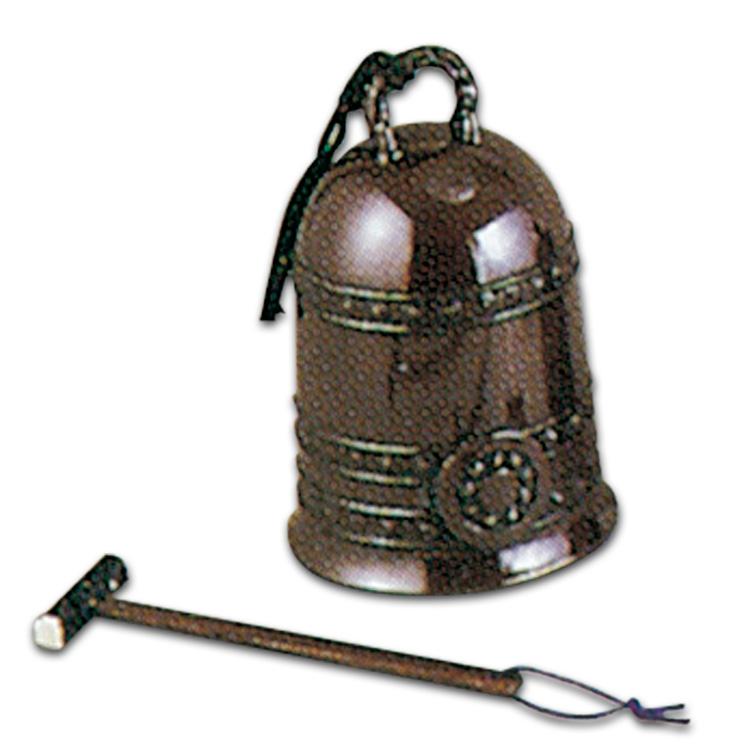 茶道具 唐銅累座喚鐘(撞木付き)(茶道具 通販 )