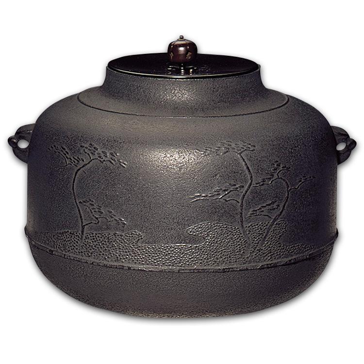 茶道具 炉釜 真形浜松 (しんなりはままつ) 佐藤清光