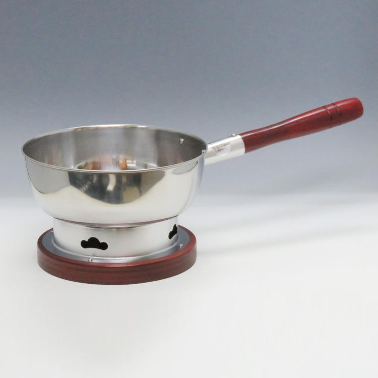 茶道具 水屋道具 炭道具 台付十能 丸型 ステンレス