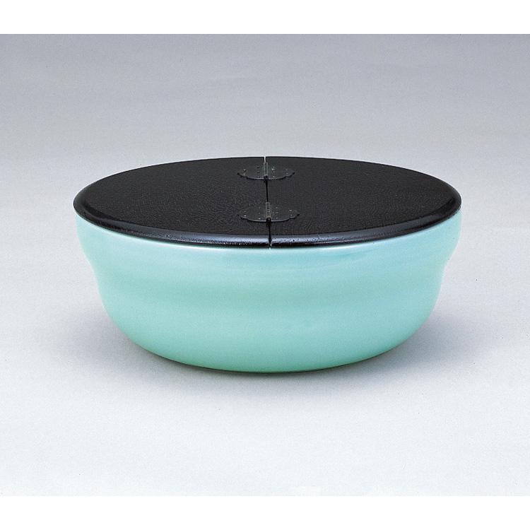 茶道具 青磁平水指 柿合蓋 石崎靖典 (茶道具 通販 )