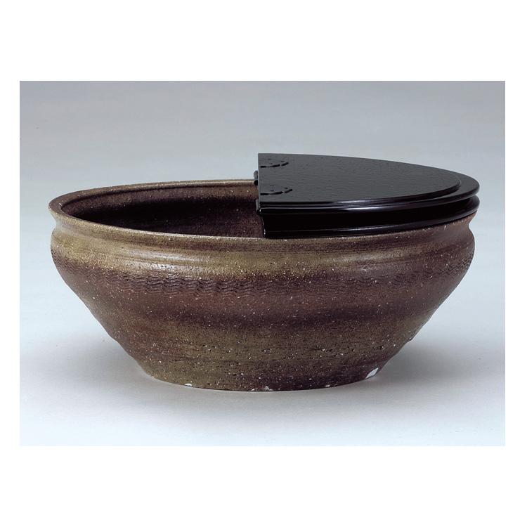 茶道具 信楽波文平水指 柿合蓋 西尾香舟 (茶道具 通販 )