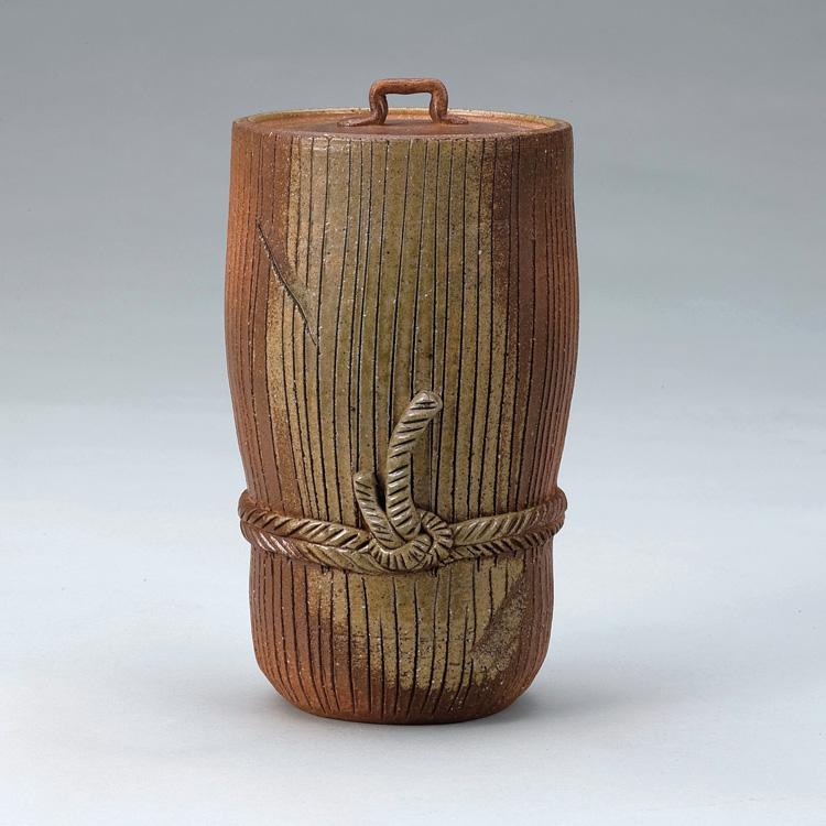 茶道具 信楽束柴細水指 西尾香舟 (茶道具 通販 )