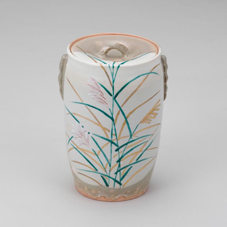 茶道具 色絵 尾花細水指 清和窯 (茶道具 通販 )