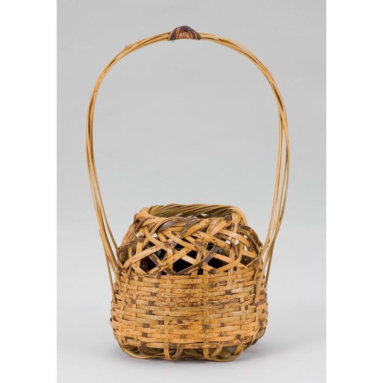 茶道具 トラ竹 山茶花籠 (茶道具 通販 )