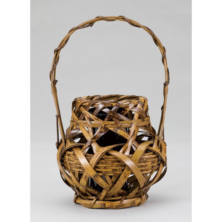 茶道具 トラ竹 たこつぼ籠 (茶道具 通販 )