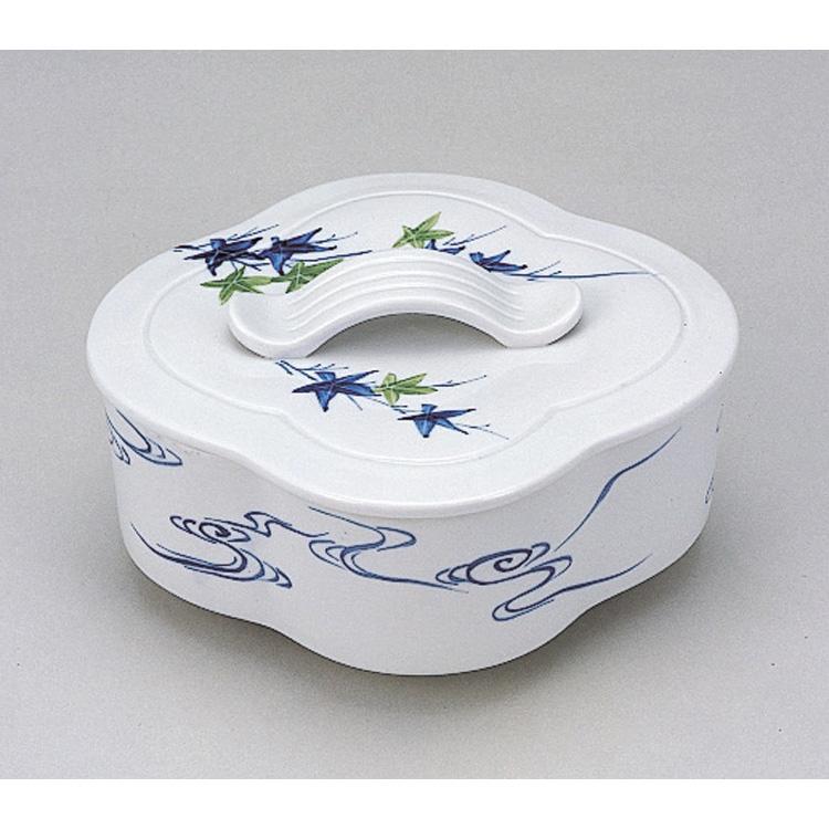茶道具 染付青楓流水木瓜食籠 大 石崎靖典 (茶道具 通販 )