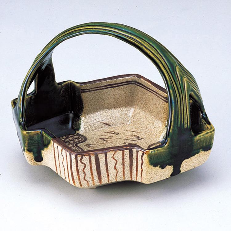 茶道具 織部松皮菱手鉢 加藤景陶 (茶道具 通販 )