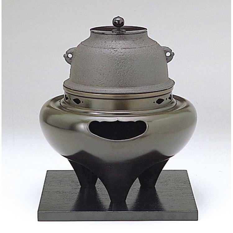 茶道具 唐銅朝鮮風炉 菊地浄慶作釜添(茶道具 通販 )