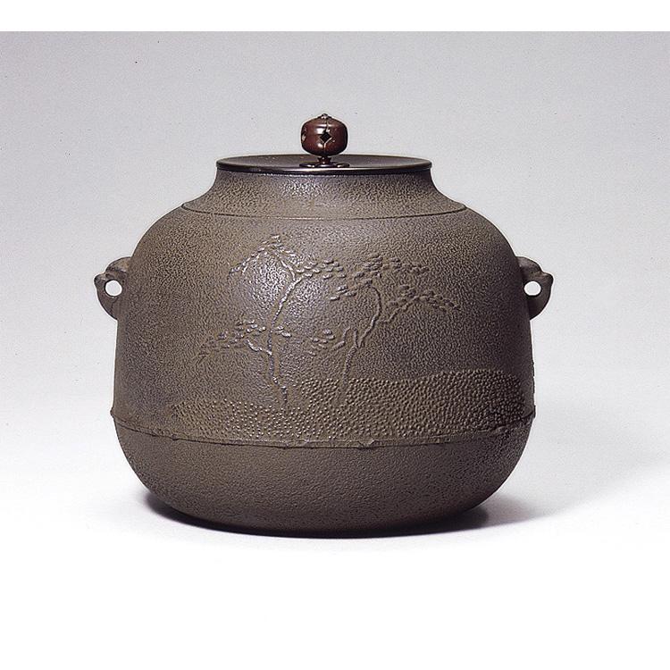 茶道具 風炉釜 真形羽落浜松 佐藤清光 (茶道具 通販 )