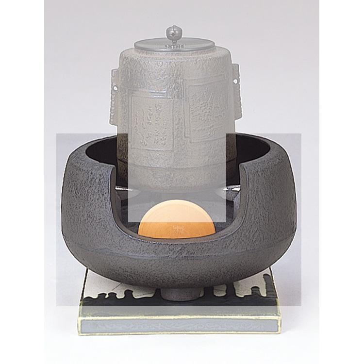 茶道具 鉄 面取風炉 尺一 地龍工房●商品名以外のものは別売です。 (茶道具 通販 )