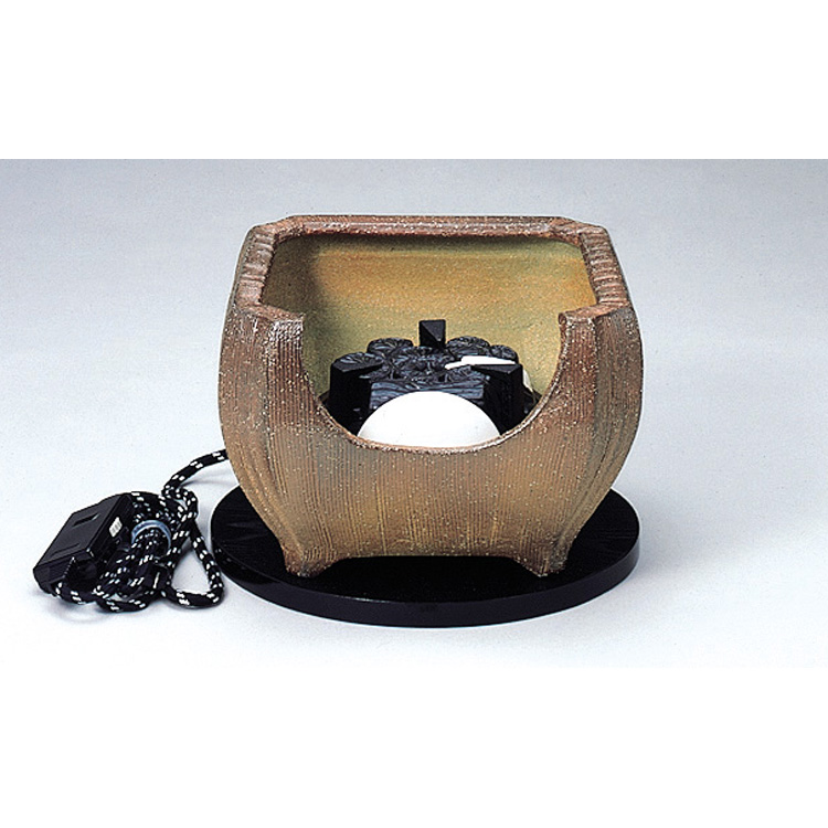 送料無料 【保証書なし】茶道具 裏流用 遠赤外線風炉用電気炭 (発熱体埋め込み方式) (茶道具 通販 )