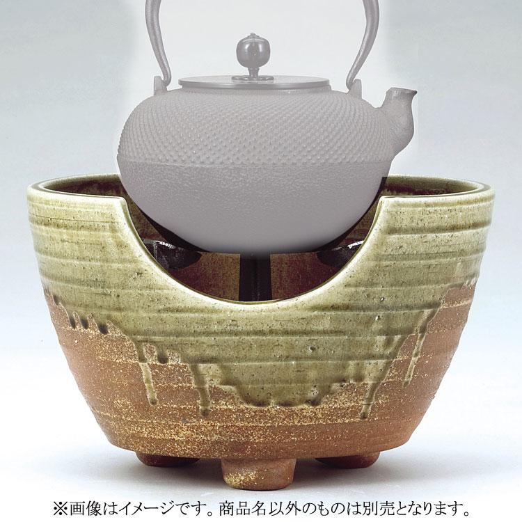 茶道具 風炉 信楽紅鉢 9寸 電気炭兼用型 西尾香舟