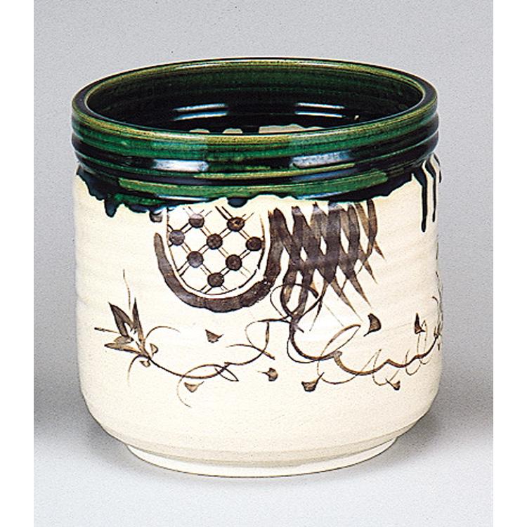 茶道具 水屋壺 織部 割蓋付 (茶道具 通販 )