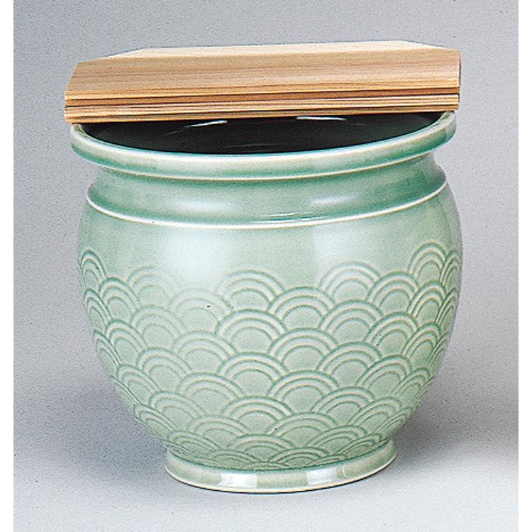 茶道具 水屋壺 青磁 蓋付 (茶道具 通販 )