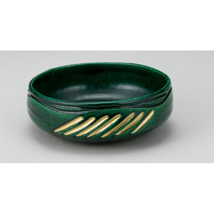 茶道具 風炉用灰器 青楽 松楽窯 (茶道具 通販 )