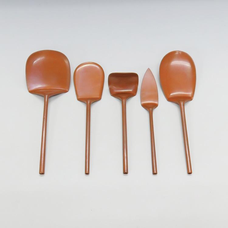 茶道具 灰匙 煮色灰匙五本組セット