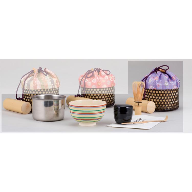 茶道具 清風籠セット[化粧箱入] 花紋散らし●商品名以外のものは別売です。 (茶道具 通販 )