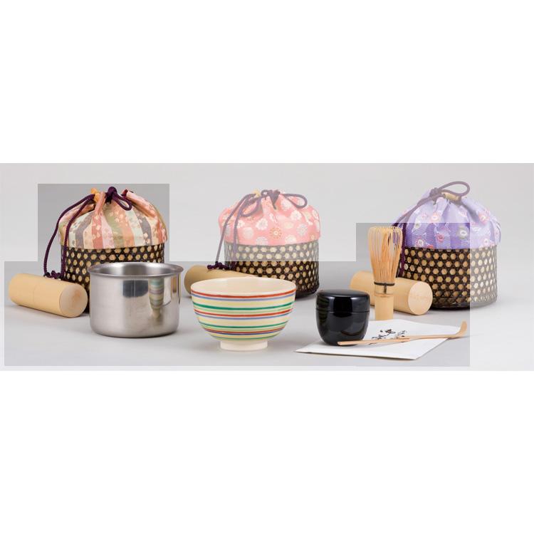 茶道具 清風籠セット[化粧箱入] 縞地利休梅裂●商品名以外のものは別売です。 (茶道具 通販 )