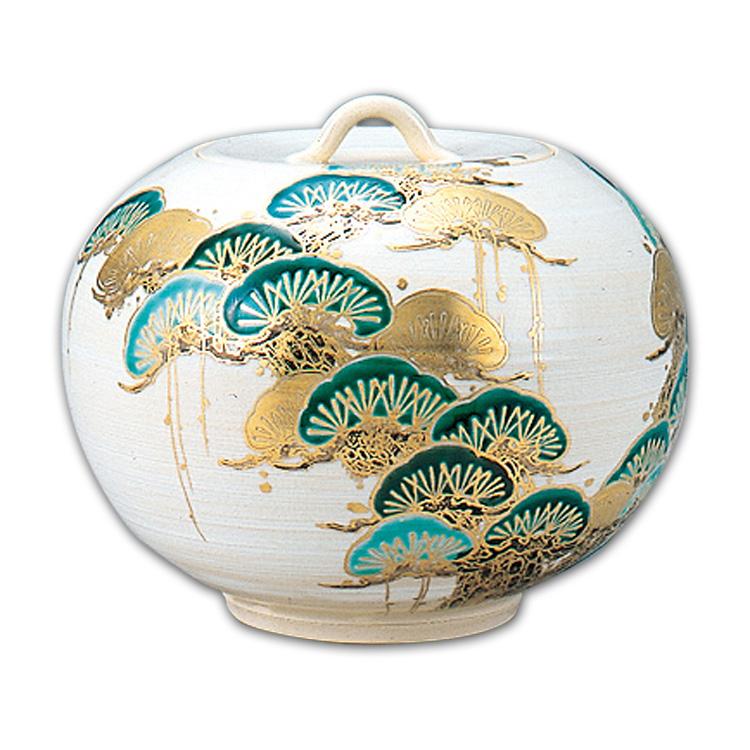 茶道具 色絵 老松水指 山川 巌 【水指】(茶道具 通販 )