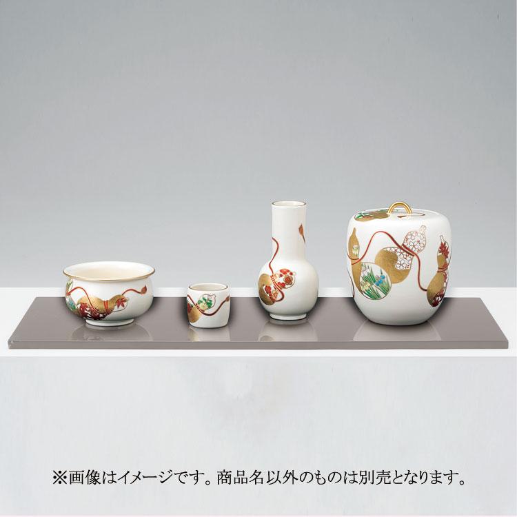 茶道具 皆具(かいぐ) 色絵 六瓢草花皆具 山岡 善昇
